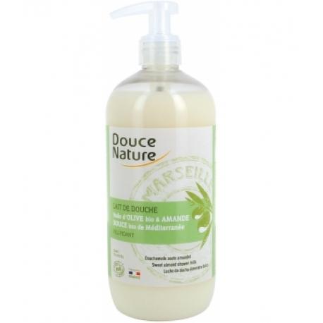 Lait de douche amande douce bio de Méditerranée 500 ml Douce Nature - produit d'hygiène bio