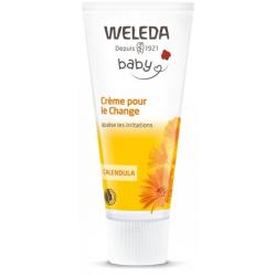 Crème pour le change bébé Calendula sans parfum 75ml Weleda - produit d'hygiène bio