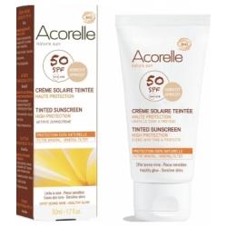 Crème  solaire teintée Abricot SPF 50 50 ml Acorelle