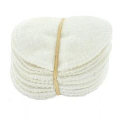 Lot 12 lingettes à démaquiller en chanvre et coton biologique 12 unités Lulu Nature - produit de nettoyage pour le visage bio sa