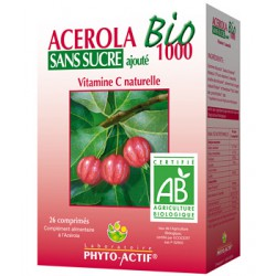 Acérola Sans Sucre 1000 AB 26 comprimés Phyto-Actif