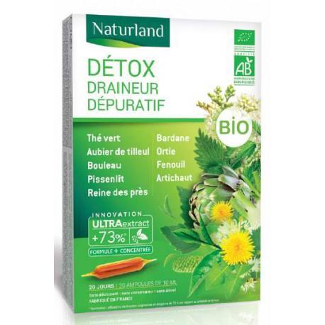 Détoxidraine Bio 20 amp de 10ml - Detox Bio Naturland