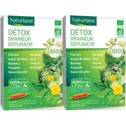 Detox Bio (association de 11 plantes*) - Lot de 2 boîtes - 2 X 20 ampoules Naturland