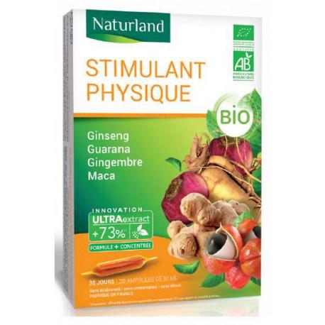 Ginseng, guarana, gingembre, maca, BIO ampoules, Naturland, biosantesenior,fr