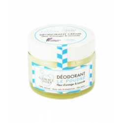 Baume déodorant Le poudré 50 gr Clémence et Vivien, déodorant naturel, bio santé senior