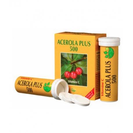 Acérola Plus 500 naturelle Boite de 2 tubes de 15 comprimés - Phyto-actif