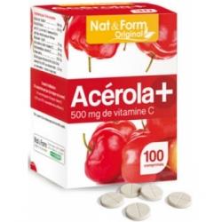 Acérola 500 Vitamine C 100 comprimés - Nat et Form