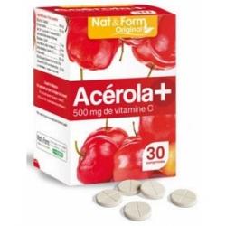 Acérola 500 Vitamine C 30 comprimés - Nat et Form