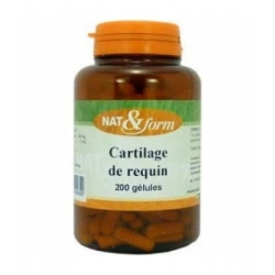 Cartilage de requin 120 gélules 57g - Nat et Form