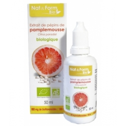 Extrait de pépins de pamplemousse 800mg L'antibiotique naturel 50ml - Nat et Form