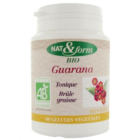 Guarana 80 gélules 250mg - Nat et Form