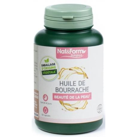 Huile de bourrache   vitamine E 120 capsules - Nat et Form