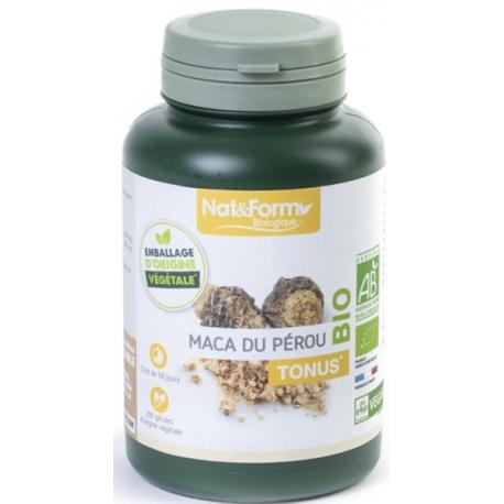 Maca du Pérou 200 gélules 350mg - Nat et Form