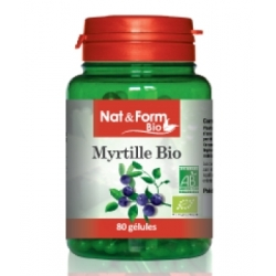 Myrtille 80 gélules 250mg - Nat et Form
