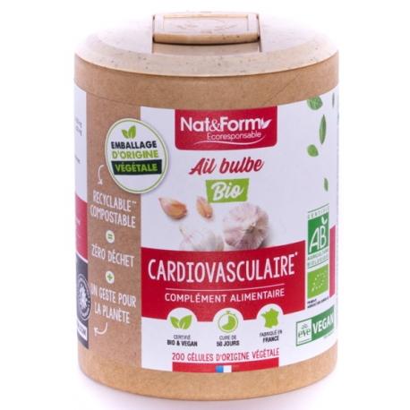 Nat  et  Form   Ail bulbe Bio 200 gélules - Nat et Form