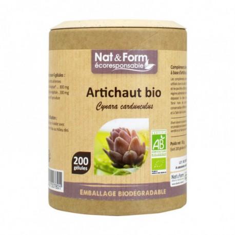 Artichaut Bio 200 gelules - Nat et Form
