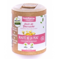 Bourrache Bio et Vitamine E   120 capsules - Nat  et  Form