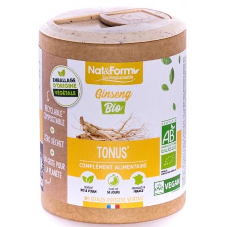 Ginseng Rouge Bio 90 gélules - Nat et Form