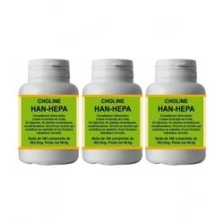 Lot de 3 Han Hepa 3X180 Comprimés génie hépatique Han Biotech, choline, bio santé senior