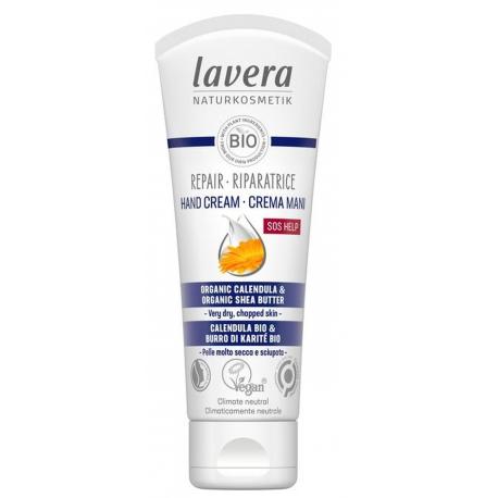 Baume SOS pour les mains 50 ml LAVERA, soin très hydratant mains bio bio sante senior