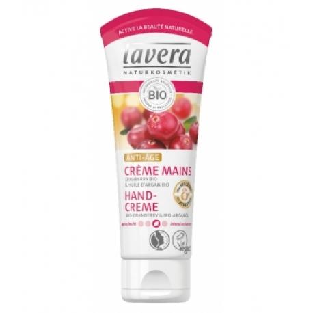Crème mains Anti Âge Cranberry huile d'argan bio 75ml Lavera
