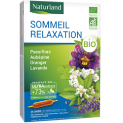 Sommeil Relaxation Passiflore Aubépine Oranger Bio 20 AMPOULES Naturland