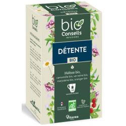 Infusion Détente bio libère votre stress 20 sachets 22g - Bio Conseils