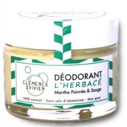 Baume déodorant L'Herbacé 50gr Clemence et Vivien bio sante senior