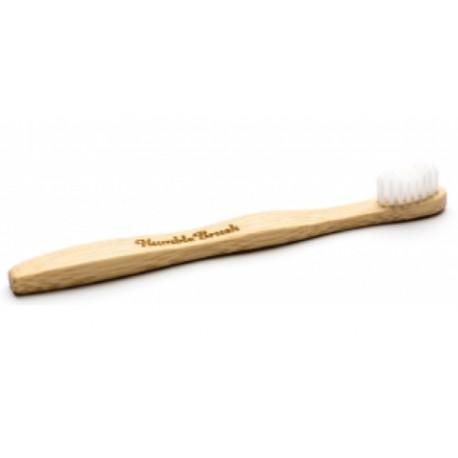 Brosse à dents enfants blanche 160 g Humble Brush - accessoire dhygiène bucco-dentaire bio sante senior