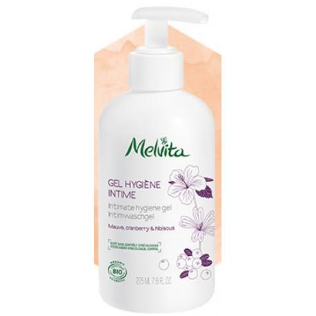 Gel hygiène intime Mauve Cranberry Hibiscus 225ml Melvita - produit d'hygiène féminine bio bio sante senior