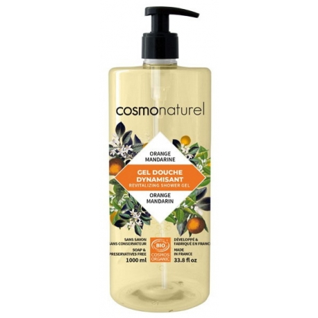 Bain douche Fruité Mandarine Orange 1 Litre Cosmo Naturel - produit d'hygiène bio