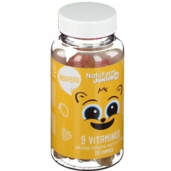 9 Vitamines Junior  30 oursons - Nat et Form Bio santé sénior