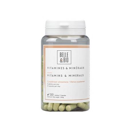 Vitamines et minéraux naturels 120 gélules Belle et bio 11 vitamines 5 minéraux Bio sante senior