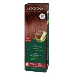 Crème colorante Lie de vin 202 cheveux chatains 150 ml Logona coloration végétale bio sante senior