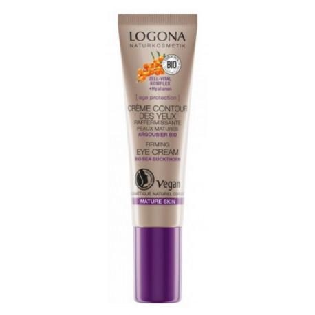 Age Protection crème raffermissante contour des yeux 15 ml Logona argousier bio santé sénior