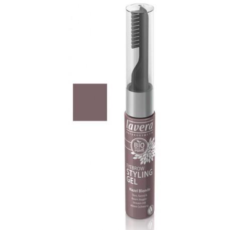 Soin gel sourcils Brun Noisette 9 ml Lavera maquillage minéral Bio santé sénior
