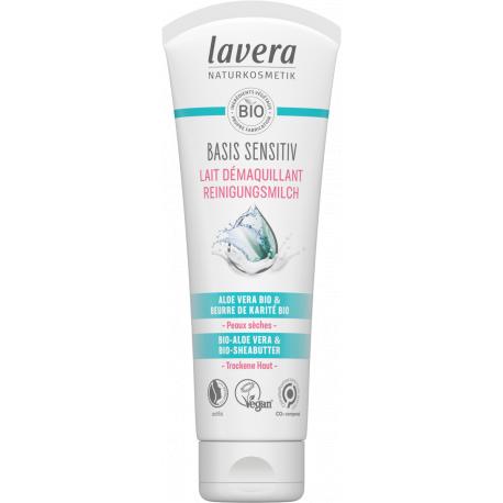 Lait nettoyant Basis Sensitiv 125 ml Lavera démaquillant bio Bio santé sénior