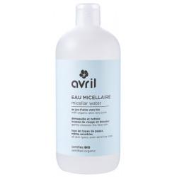 Lotion micellaire Aloe Vera Ginkgo 500 ml Avril Beauté eau micellaire bio santé sénior