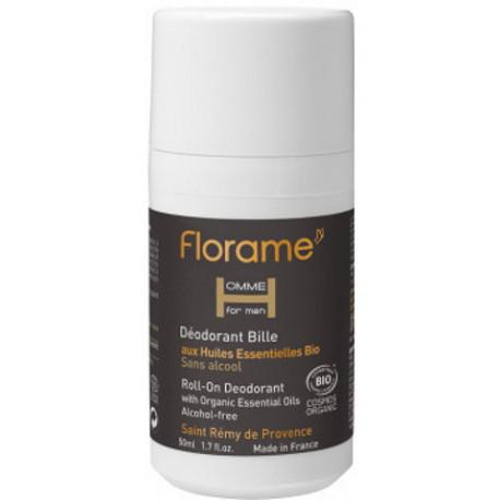 Déodorant bille roll on Homme 50 ml Florame deodorant bio santé sénior