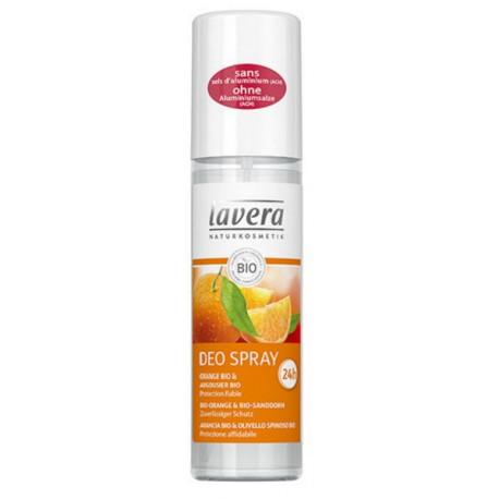 Déodorant spray fraicheur Orange Argousier 75 ml Lavera Bio sante senior