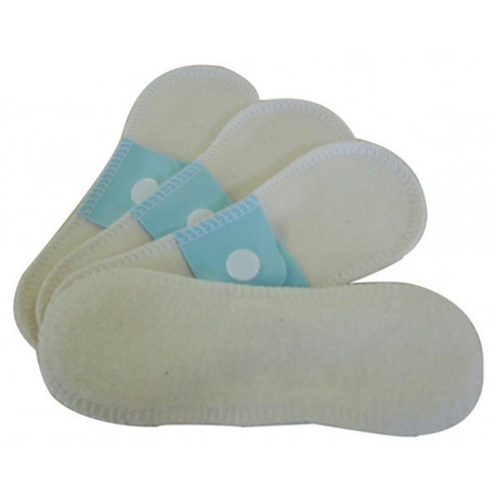 Lot 4 protège slips mini (16x5 cm) en coton bio Lulu Nature protection hygiénique bio sante senior