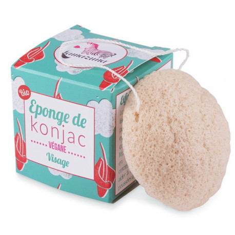 Eponge de Konjac 30 gr Lamazuna exfoliant et nettoyant doux Bio sante senior