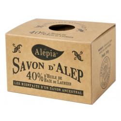 Savon d'Alep ancestral 40% baie de Laurier 190 gr Alepia laurier olivier Bio sante senior