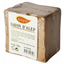Savon d'Alep filmé peaux délicates 190 gr Alepia savon traitant peaux à problèmes Bio sante senior