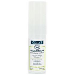 Spray buccal purifiant haleine fraîche à la menthe 15 ml Coslys hygiène bucco dentaire bio sante senior