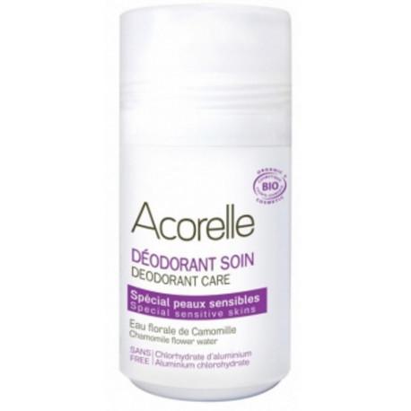 Déodorant soin spécial peaux sensibles cristaux d'alun eau florale de camomille 50ml Acorelle bio sante senior