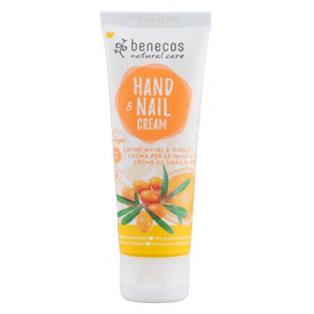 Crème mains et ongles Argousier et Orange 75ml Benecos Bio sante senior