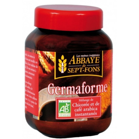 Germaforme Chicorée bio Café arabica bio instantanés 100gr Abbaye de Sept-Fons petit déjeuner Bio sante senior