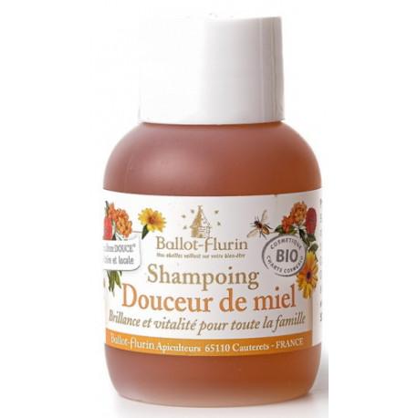Shampoing douceur de miel 30% de miel Grand cru 50ml Ballot Flurin brillance et vitalité Bio sante senior