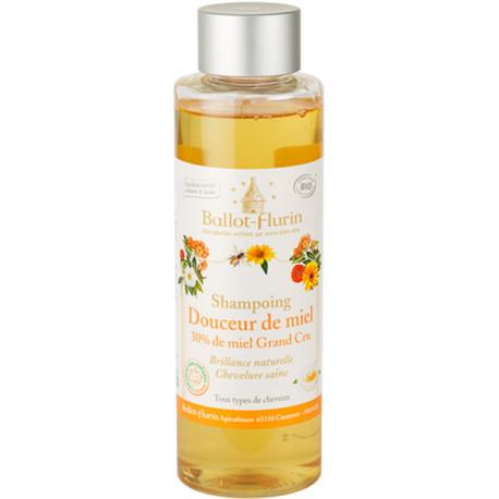 Shampoing familial douceur de miel 30% de miel Grand cru 250ml Ballot Flurin Bio sante senior
